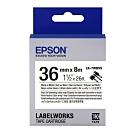 EPSON C53S657412 LK-7WBVS 線材標籤系列白底黑字標籤帶(寬度36mm)