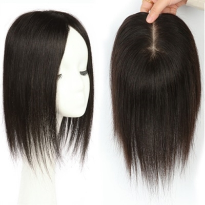 米蘭精品 假髮片真髮絲-內網14x16cm直髮35cm女假髮母親節禮物73us39