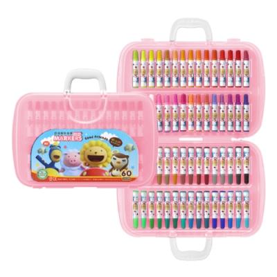 雄獅 奶油獅60色透明盒彩色筆BLM-60 - 粉紅