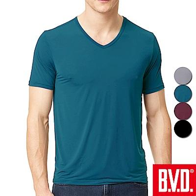 BVD 冰沁柔滑速乾V領短袖衫-4入組