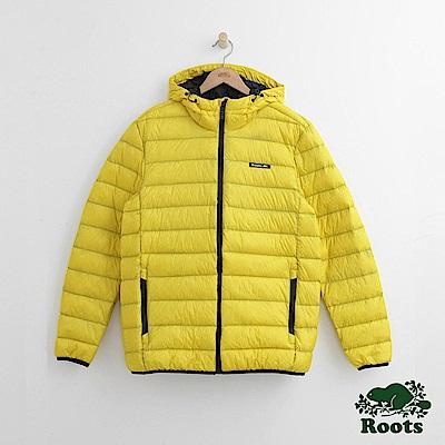 Roots 男裝-經典收納式羽絨外套-黃色