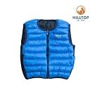 【hilltop山頂鳥】童款超潑水保暖蓄熱羽絨雙面穿內背心F25CF6藍色