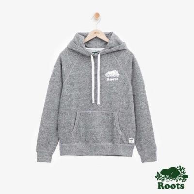 女裝Roots - S&P系列毛圈布連帽上衣-灰色