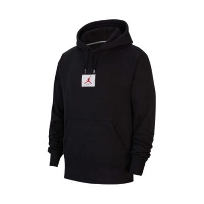 Nike 帽T Flight Fleece Hoodie 男款 喬丹 飛人 連帽上衣 口袋 保暖 刷毛 黑 白 CV6147010