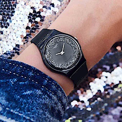 Swatch THINK FUN系列 DARKSPARKLES 黑夜閃耀手錶