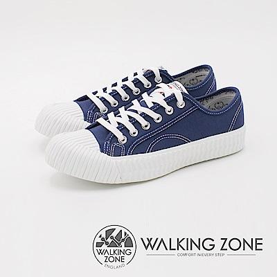 WALKING ZONE 帆布系列 防潑水簡約休閒餅乾鞋 女鞋-丹寧藍
