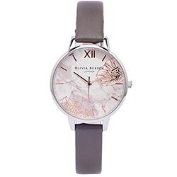 OLIVIA BURTON 愛戀花朵風手錶(OB16VM32)-花朵面/34mm