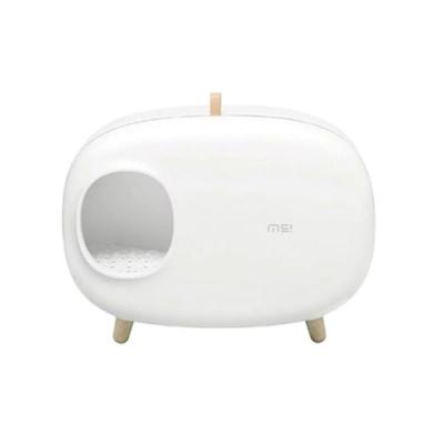 makesure《麻薯寵物貓砂盆-白色|粉色|藍綠色》三色可選 大空間