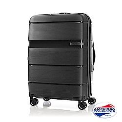 AT美國旅行者 28吋 Linex防刮耐衝擊硬殼TSA行李箱(黑)