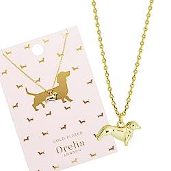 Orelia英國品牌 臘腸狗造型金色項練