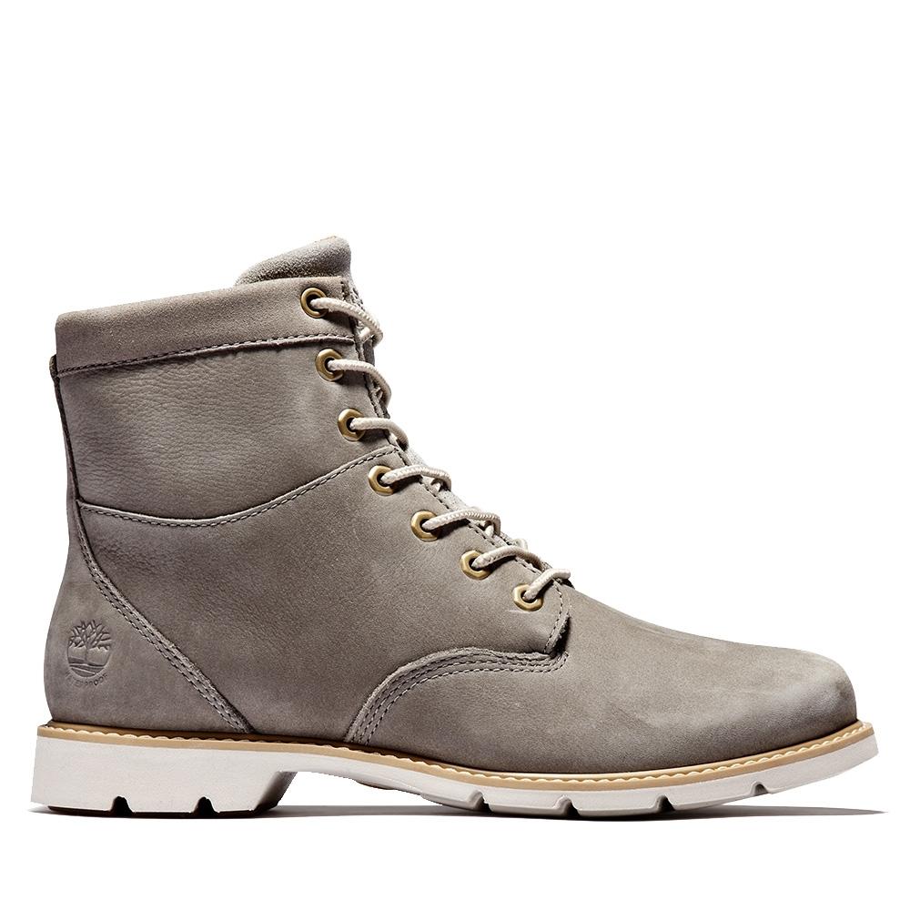 Timberland 女款中灰色磨砂革高筒靴|A2D75