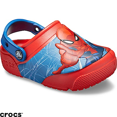 Crocs 卡駱馳 (童鞋) 蜘蛛人酷閃小克駱格-205506-8C1