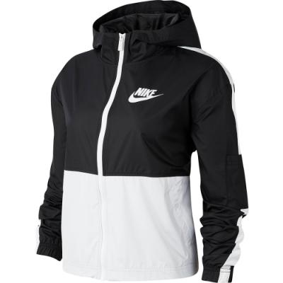 NIKE 風衣外套 連帽 防風 上衣 梭織 寬版 黑白 CJ7345010 SPORTSWEAR