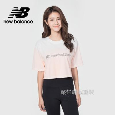 【New Balance】漸層短版短袖T_女性_粉橘_WT11536CDP