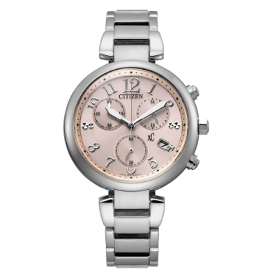 CITIZEN xC光動能輕奢三眼腕錶-銀(FB1450-53W)35mm