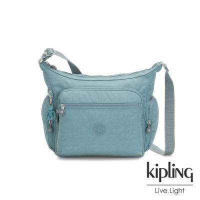 Kipling 冰霜綠多袋實用側背包-GABBIE