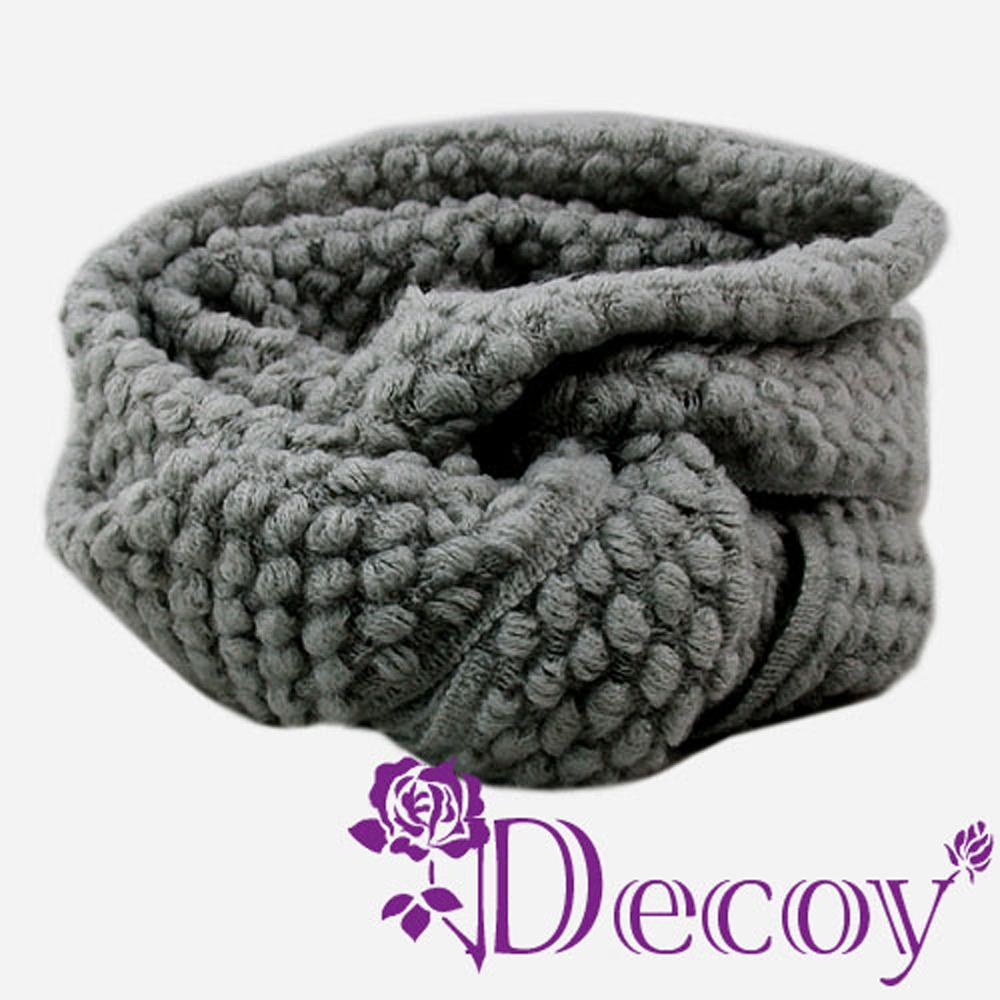 Decoy 純色時尚 點點圍脖套 深灰