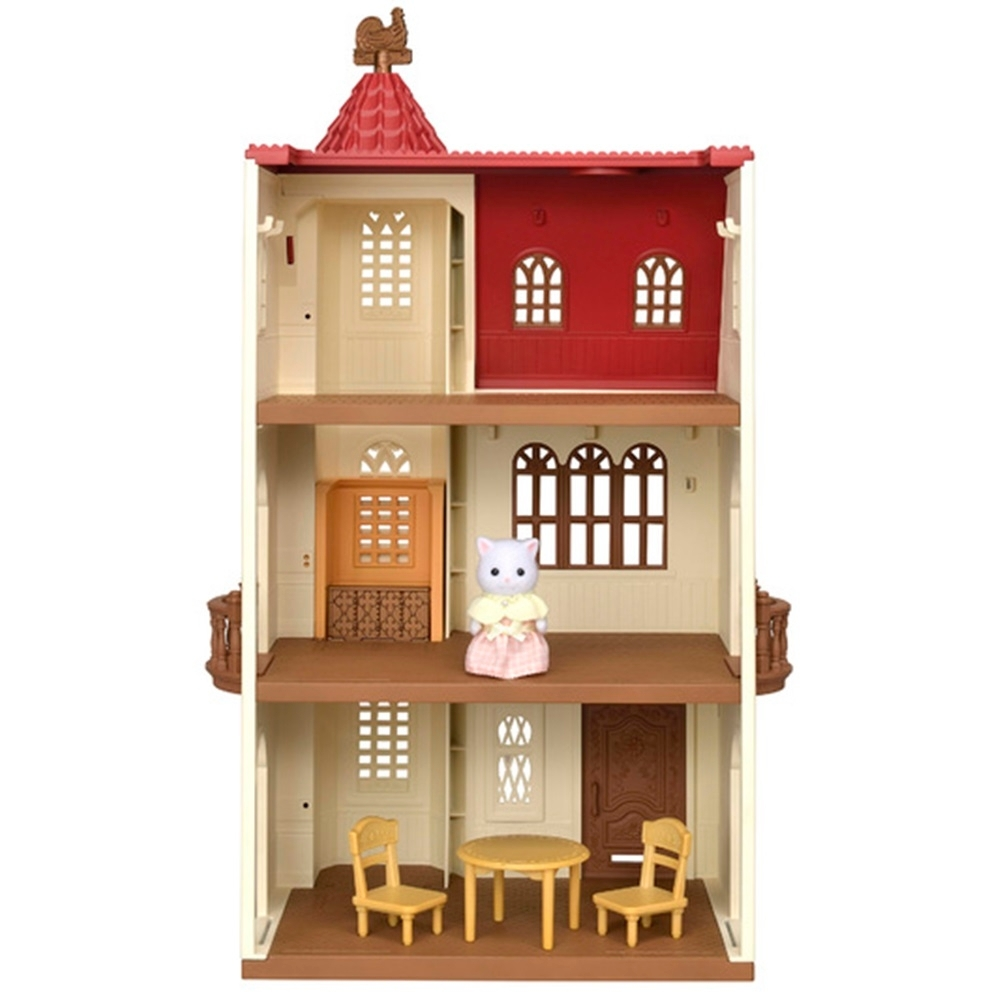 日本森林家族 紅頂電梯屋禮盒組_EP14451 EPOCH公司貨