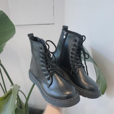 KEITH-WILL時尚鞋館 特惠款英倫風巴洛克短靴-黑色