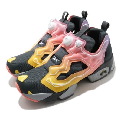 Reebok 慢跑鞋 Instapump Fury OG 男女鞋 經典款 充氣科技 舒適 情侶穿搭 灰 黃 FY9332