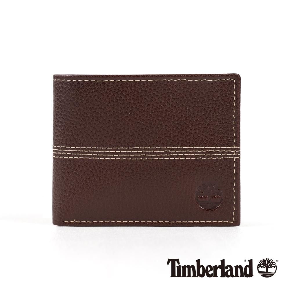 Timberland 中性深棕色翻折皮夾|A1COJ