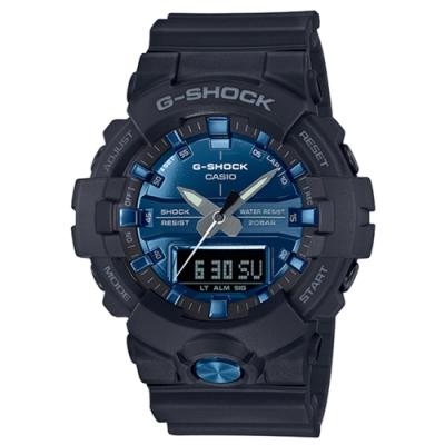 CASIO卡西歐G-SHOCK系列質感手錶(GA-810MMB-1A2)-藍/48.6mm