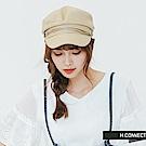 H:CONNECT 韓國品牌- 簡約造型報童帽-卡其