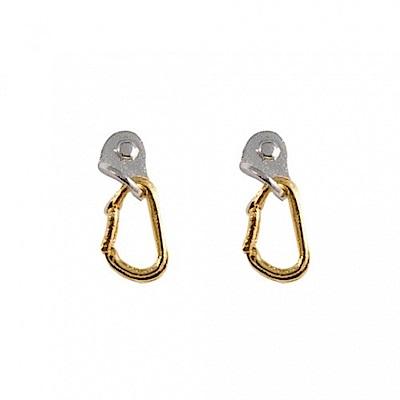 SAC #013 鍍金/銀耳環一對 鉤環 金