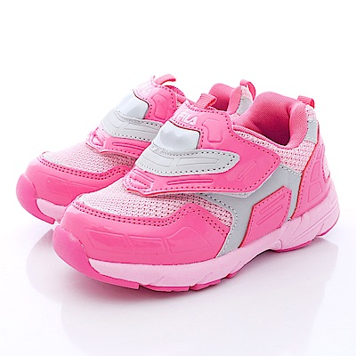 FILA頂級童鞋款 賽車電燈鞋款 855P-245 桃粉 (小童段)T1