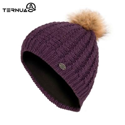 TERNUA 女美麗諾羊毛保暖毛帽2661653【深紫】