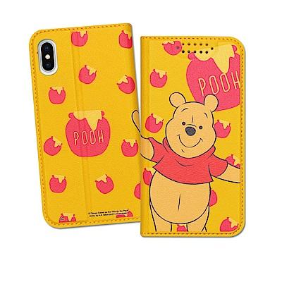 迪士尼授權正版 iPhone Xs / X 5.8吋 印花系列彩繪皮套(維尼)