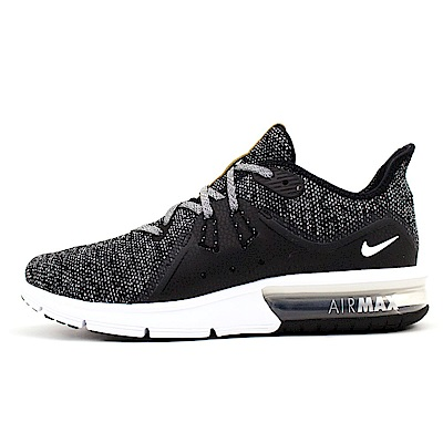 NIKE-AIR MAX SEQUENT 3男慢跑鞋-黑