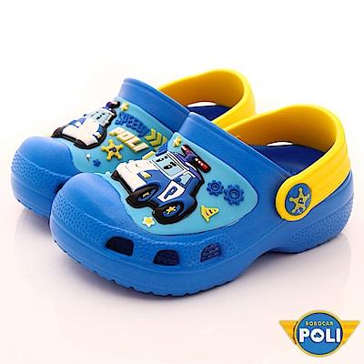 POLI童鞋 超輕量護趾涼鞋款 EI1026藍(中小童段)