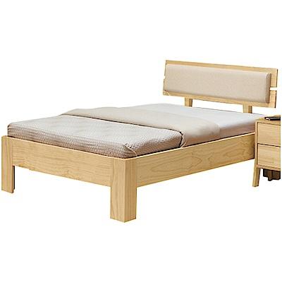綠活居 卡姆斯3.5尺實木單人床台(不含床墊+二色)-113x196x82cm免組