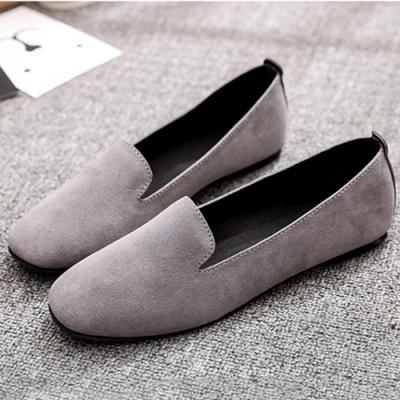 KEITH-WILL時尚鞋館 簡約休閒舒適平底鞋-灰色