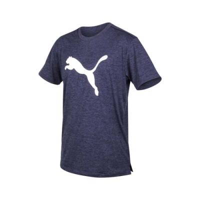 PUMA 男 訓練系列大跳豹麻花短袖T恤 麻花紫藍白
