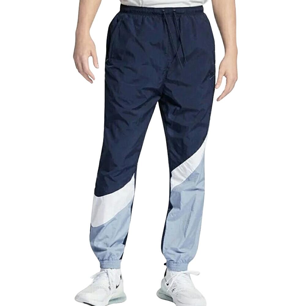 Nike AS M NSW HBR PANT WVN STMT 男長褲 黑藍-AR9895451