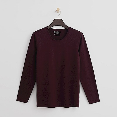 Hang Ten - 男裝 - ThermoContro系列-舒適保暖圓領上衣-酒紅
