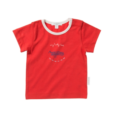 澳洲Purebaby有機棉男童印花短T-6月~3歲