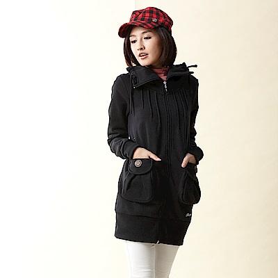 【TOP GIRL】刷毛布針織外套-黑