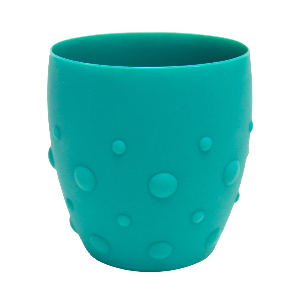 【MARCUS&MARCUS】動物樂園矽膠防滑學習杯-大象(綠)