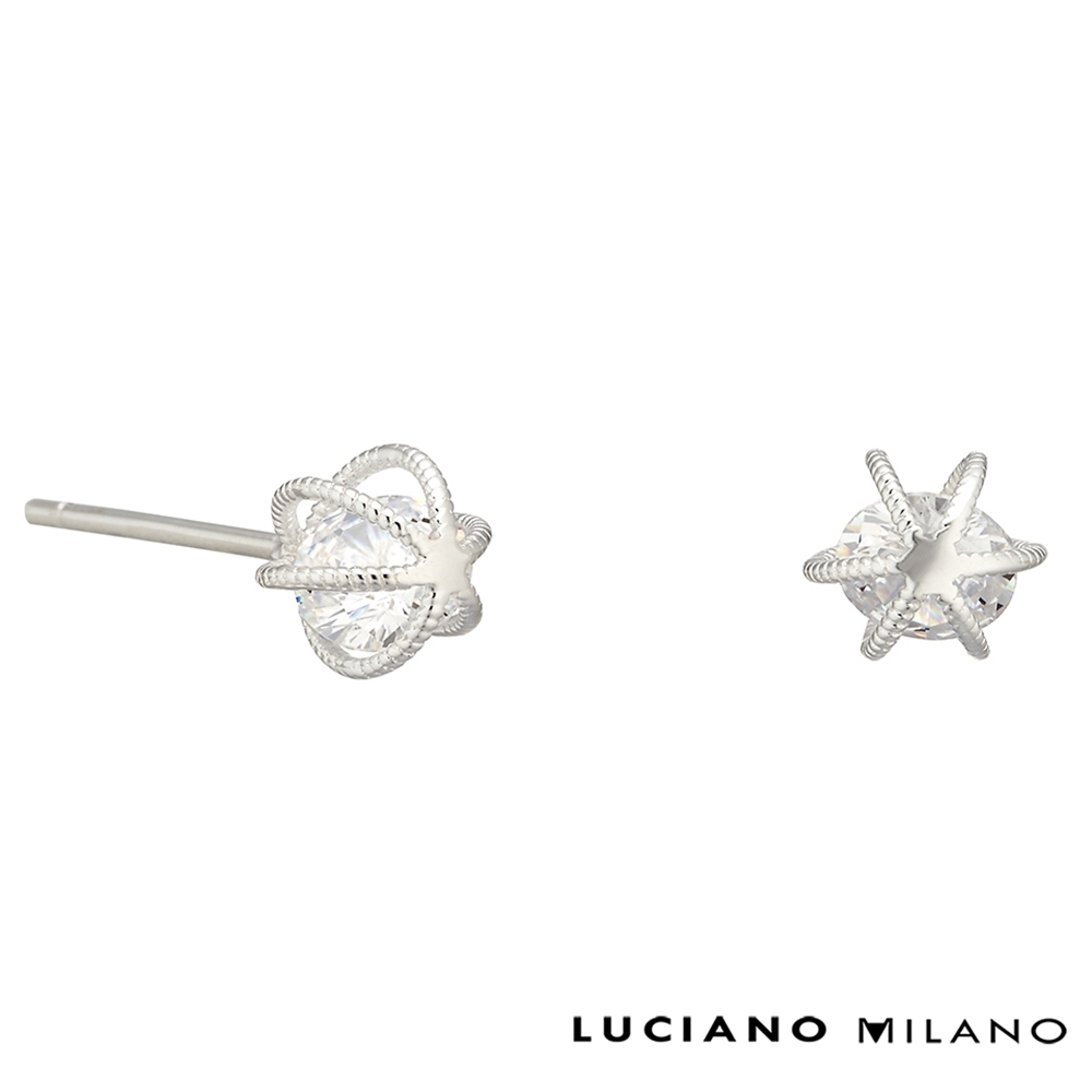 LUCIANO MILANO 鑽心純銀耳環
