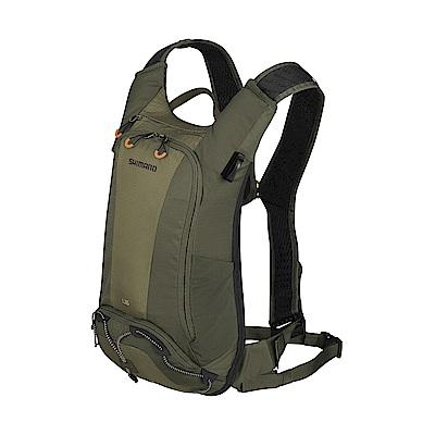 【SHIMANO】UNZEN 6L 自行車背包 (不含水袋) 橄欖綠