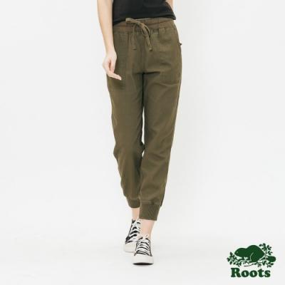 ROOTS女裝- -經典平織長褲-綠
