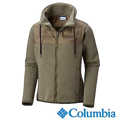 Columbia哥倫比亞 女款-防潑快排彈性外套-棕綠 UAK12110CS