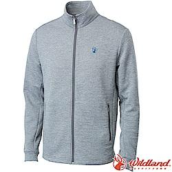 Wildland 荒野 0A62610-90灰色 男彈性針織時尚保暖外套