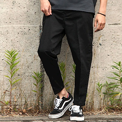 九分褲素色格紋錐形長褲(9色)  ZIP日本男裝