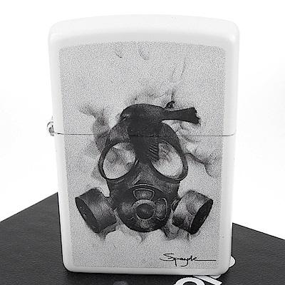 ZIPPO 美系~火焰藝術家Spazuk-防毒面具與鳥圖案打火機