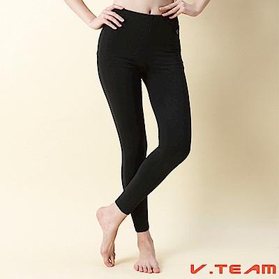 【V-TEAM】修長保暖內搭褲-黑-女款