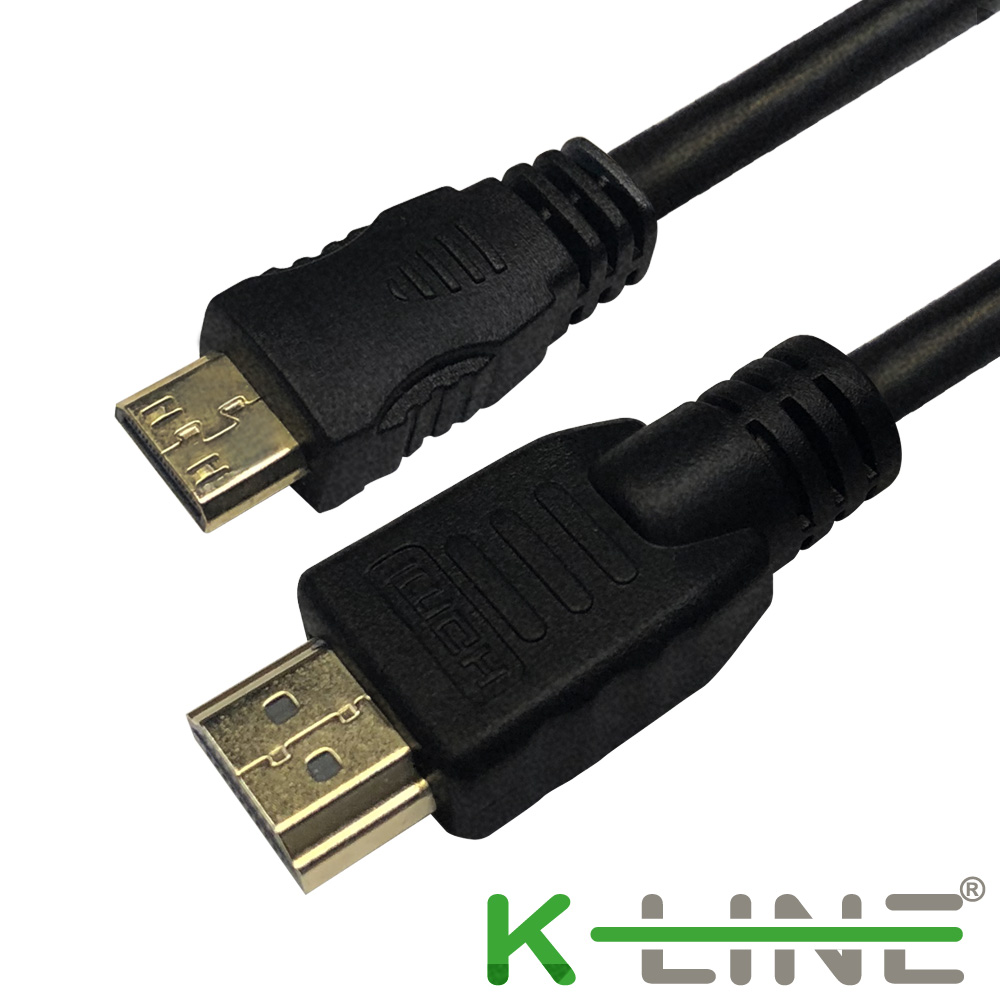 K-Line Mini HDMI to HDMI 1.4版 影音傳輸線 5M